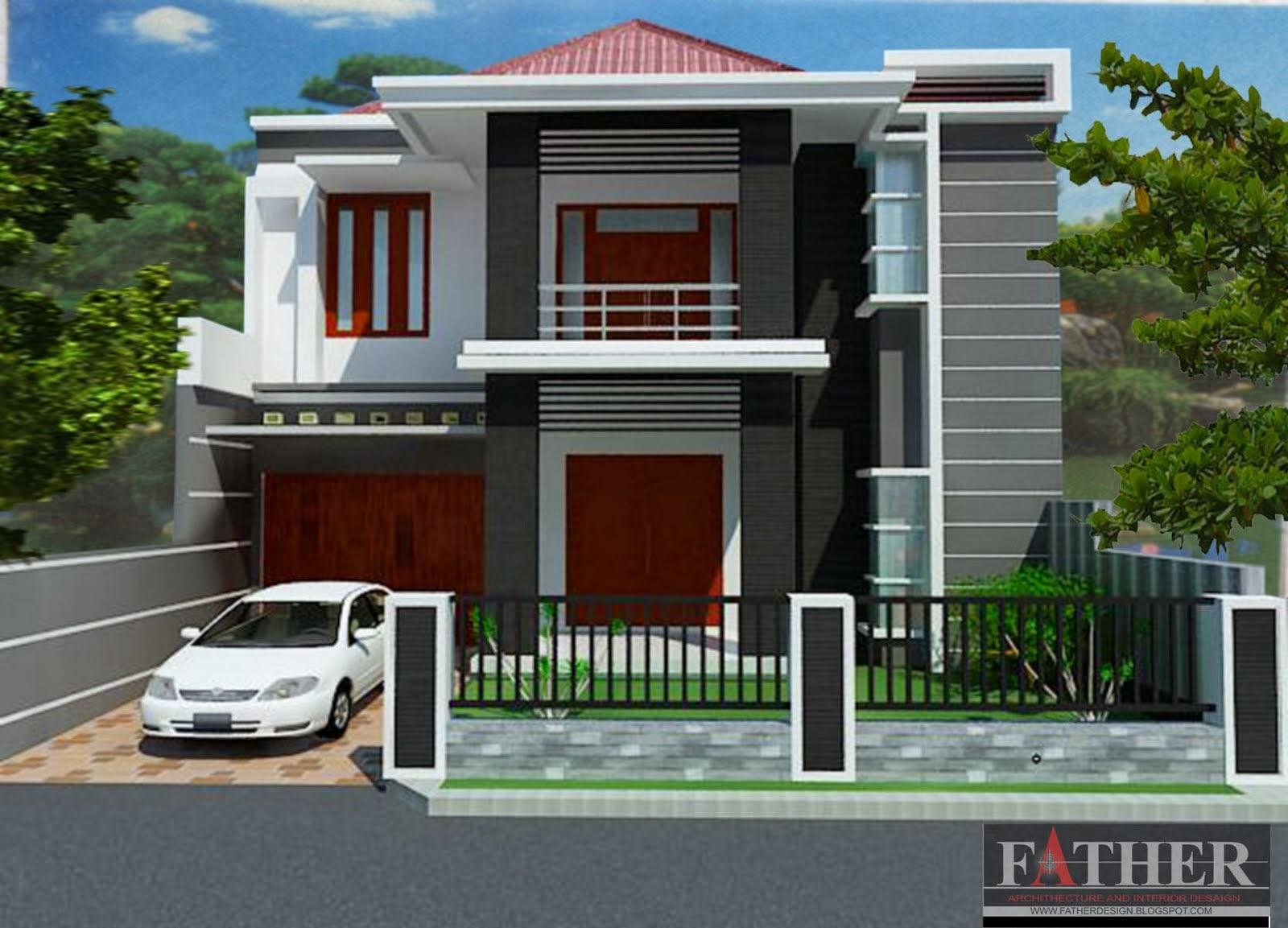 Model Desain Rumah Minimalis 2 Lantai