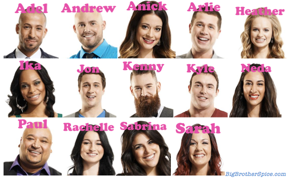 Big Brother Canada 2 Cast Complete