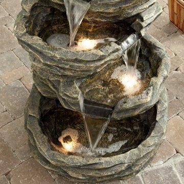 air mancur taman: air mancur batu untuk indoor atau outdoor