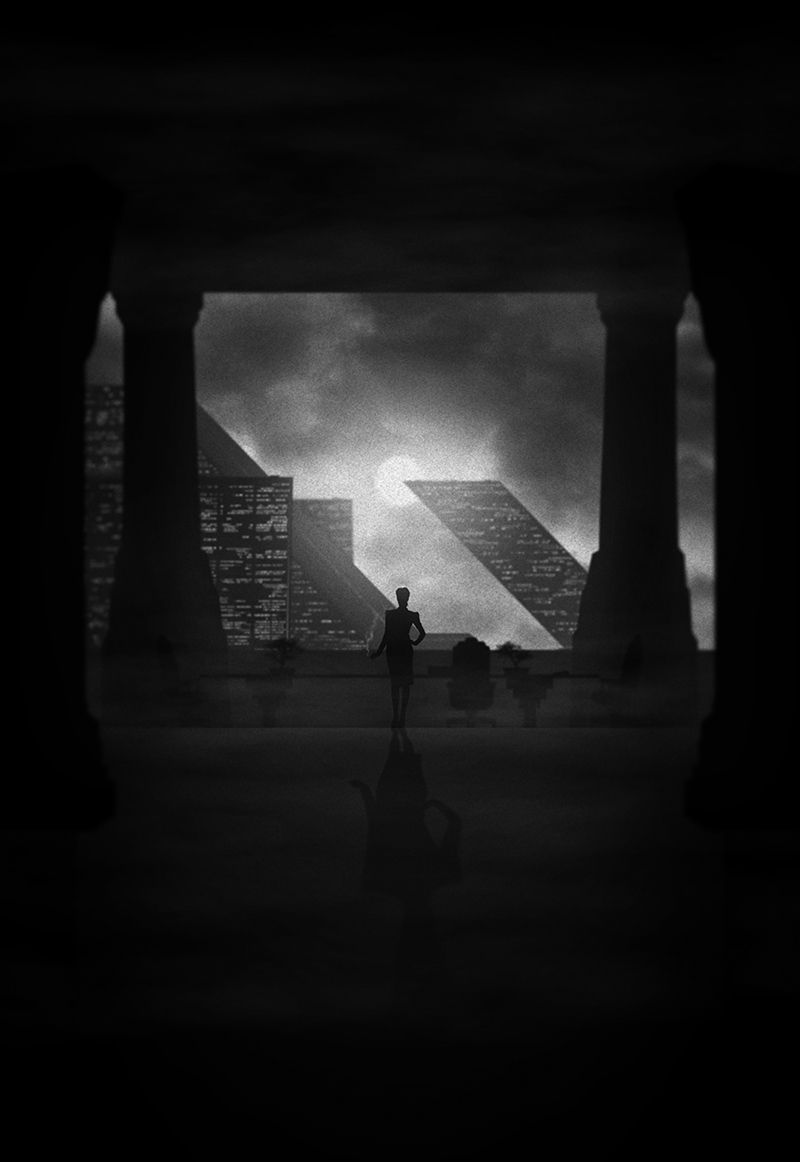 inside the rock poster frame blog marko manev tyrell mother noir series print release details. Black Bedroom Furniture Sets. Home Design Ideas