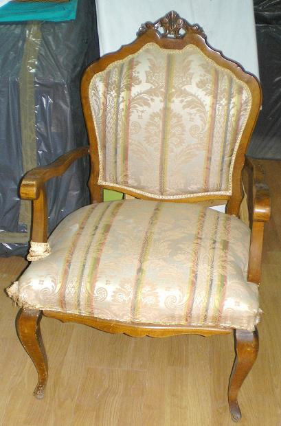 El blog de la restauradora pintura decorativa sill n descalzadora a os 50 - Como tapizar una descalzadora ...