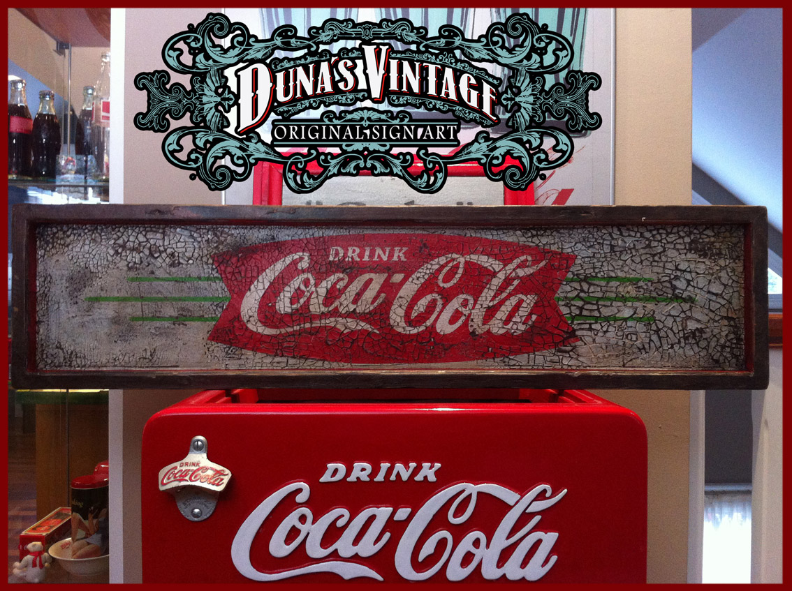 Duna s vintage coca cola drink duna s vintage for sale 125 - Carteles retro ...