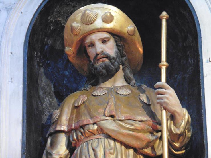 Sint Jacob als pelgrim in de Sint-Jacobskapel van de Cathédrale Saint-Etienne van Toulouse