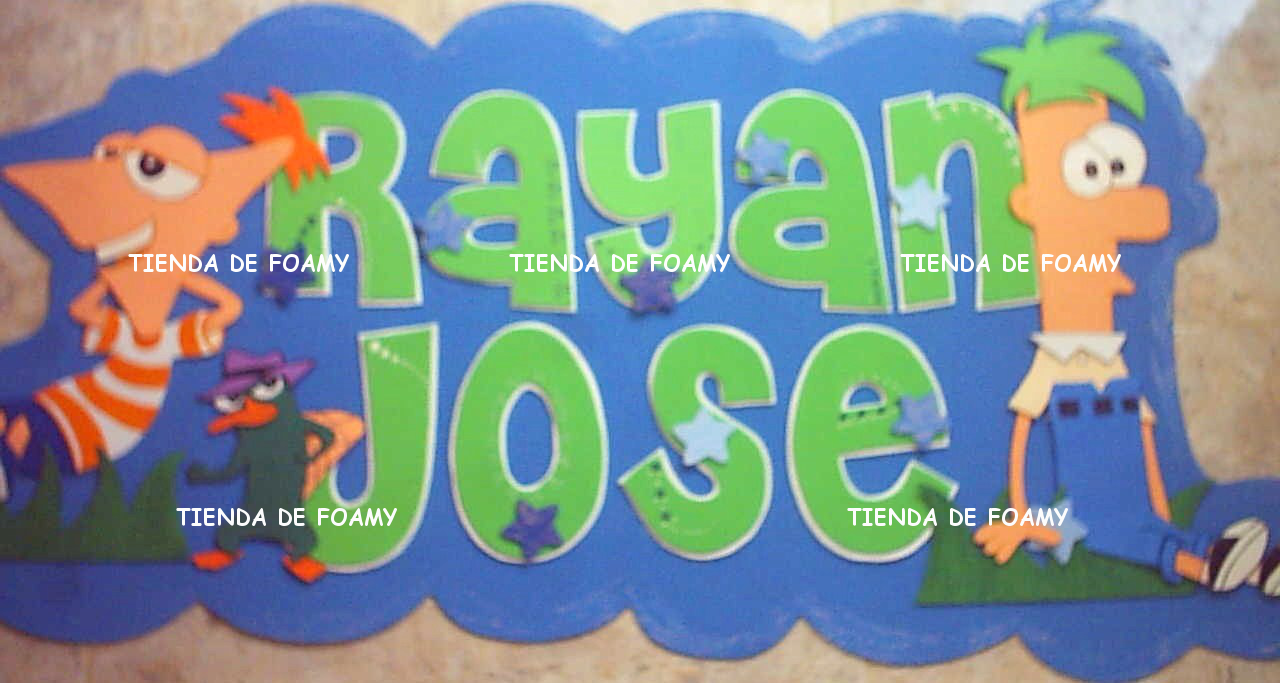 TIENDA DE FOAMY: Banner de foami phineas y ferb