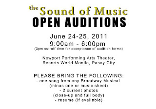 theaterbator auditions for resorts world s the sound of music