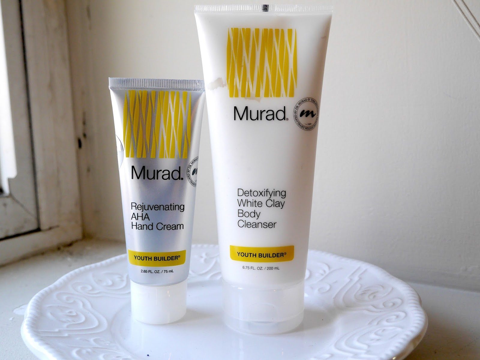 Murad Youth Builder rejuvenating aha hand cream detoxifying white clay body cleanser review