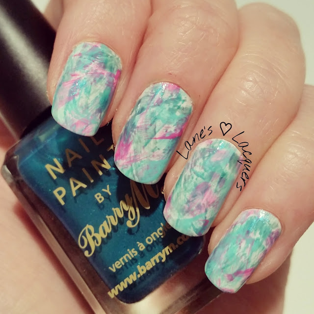 40-great-nail-art-ideas-teal-brush-stroke-nail-art (2)