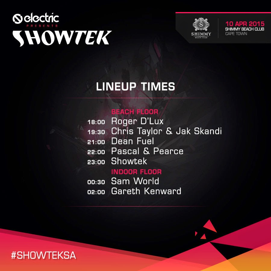 Showtek Cape Town Line Up 2015
