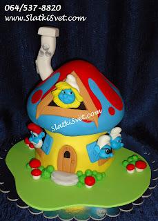 Torta Strumfovi - Strumfeta