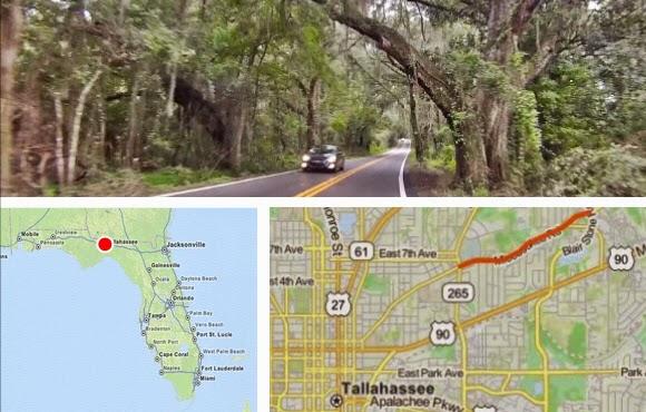 Tallahassee Miccosukee Road historische Straße