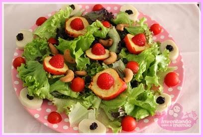 como arrumar uma salada verde