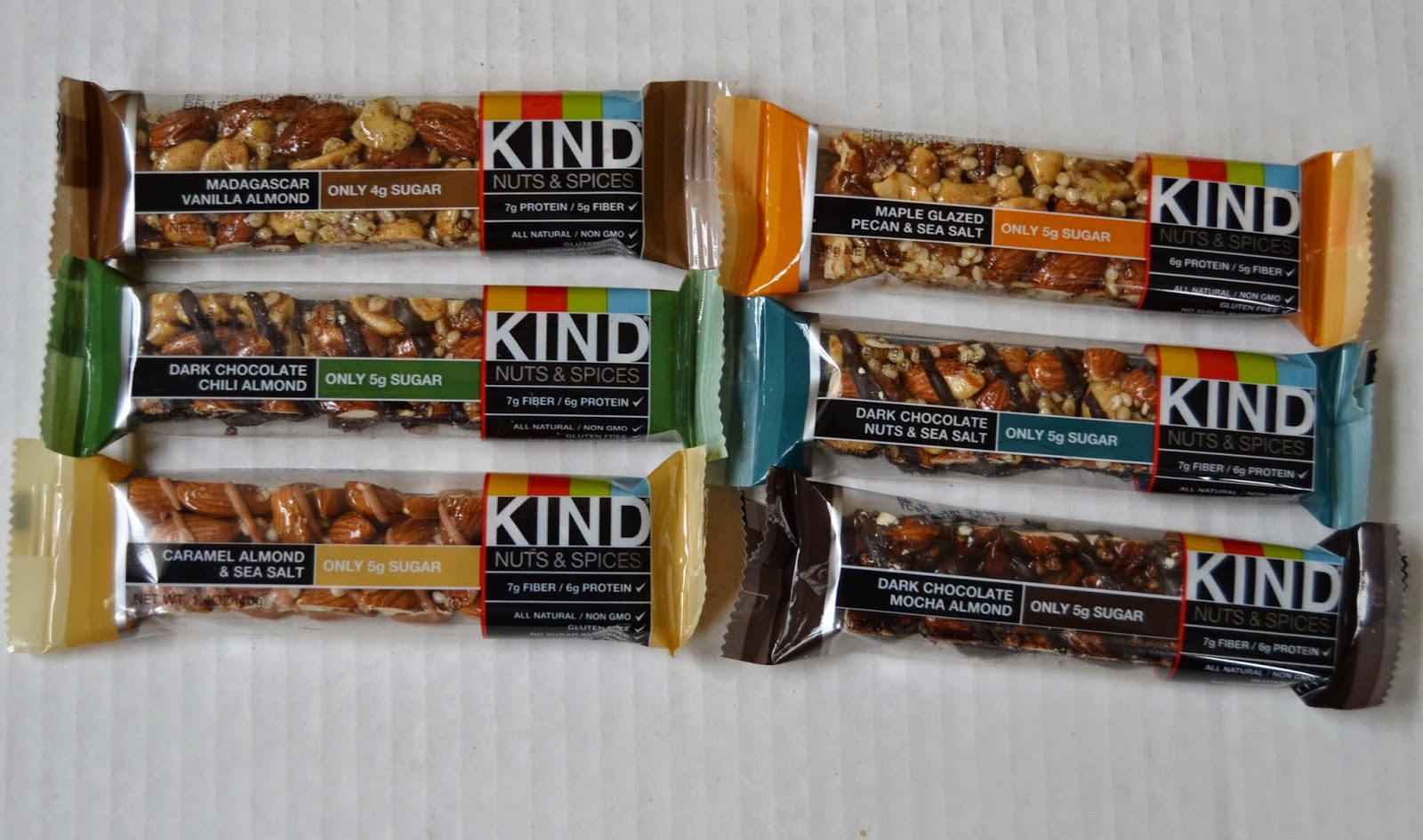KIND Bars- 5 grams of sugar or less