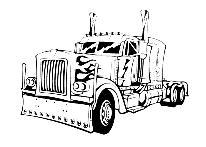 big truck coloring pages - photo#13