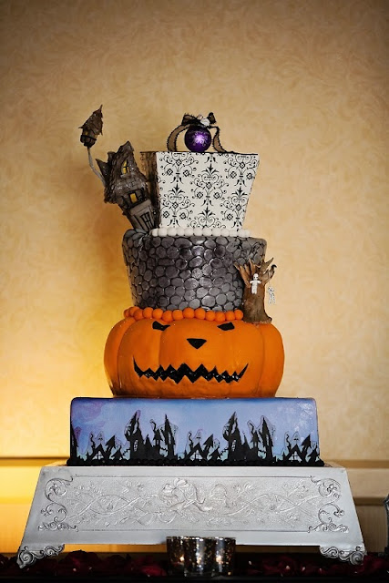 Disney Wedding Inspiration: Disney Halloween Wedding Cakes to Sink Your Teeth Into