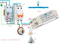Esquema electrico de conexion dicroica