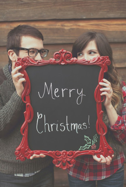 Funny christmas cards with Husband & Wife
