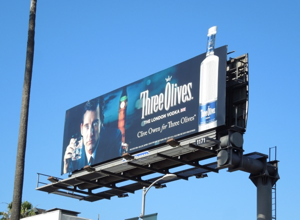 Clive Owen Three Olives special extension billboard