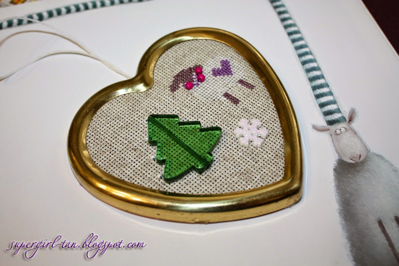 вышивка в сердечке