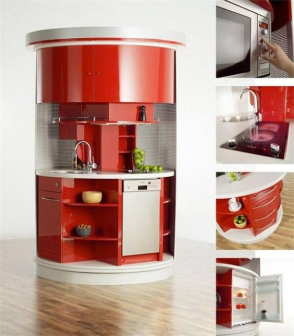 Cabinets for Kitchen: Unique and Unusual Shaped Kitchen Cabinets
