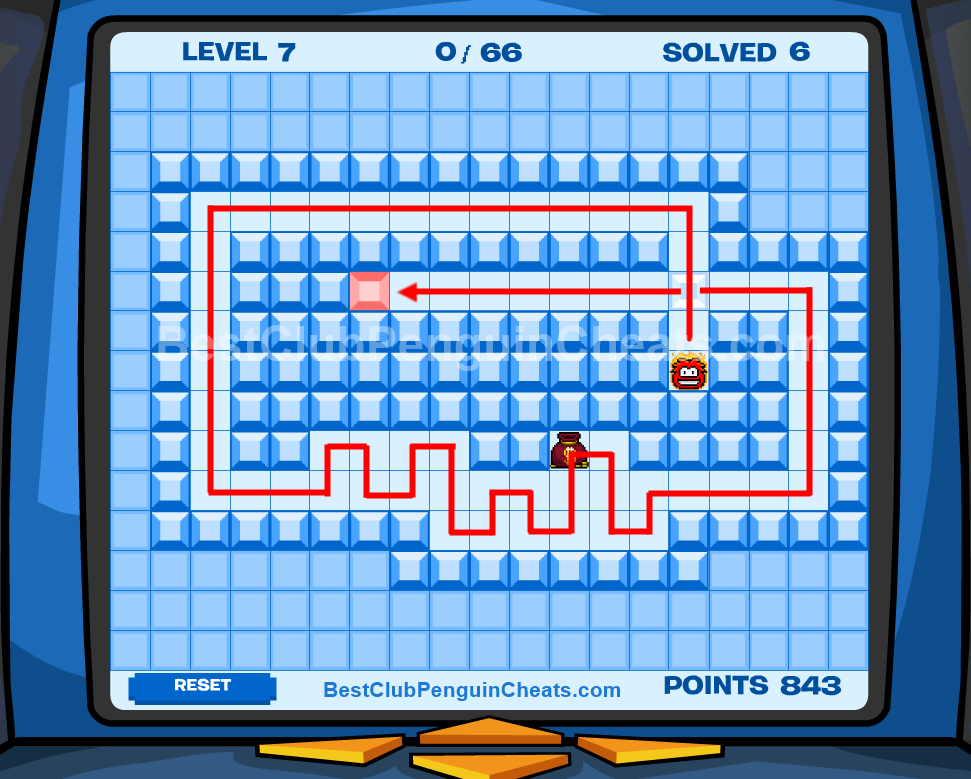 Club Penguin Thin Ice Cheats Level 7