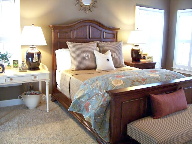 Best The first time I shared my room on the blog was March We had replaced the other bed with this large wood paneled one from Haverty us