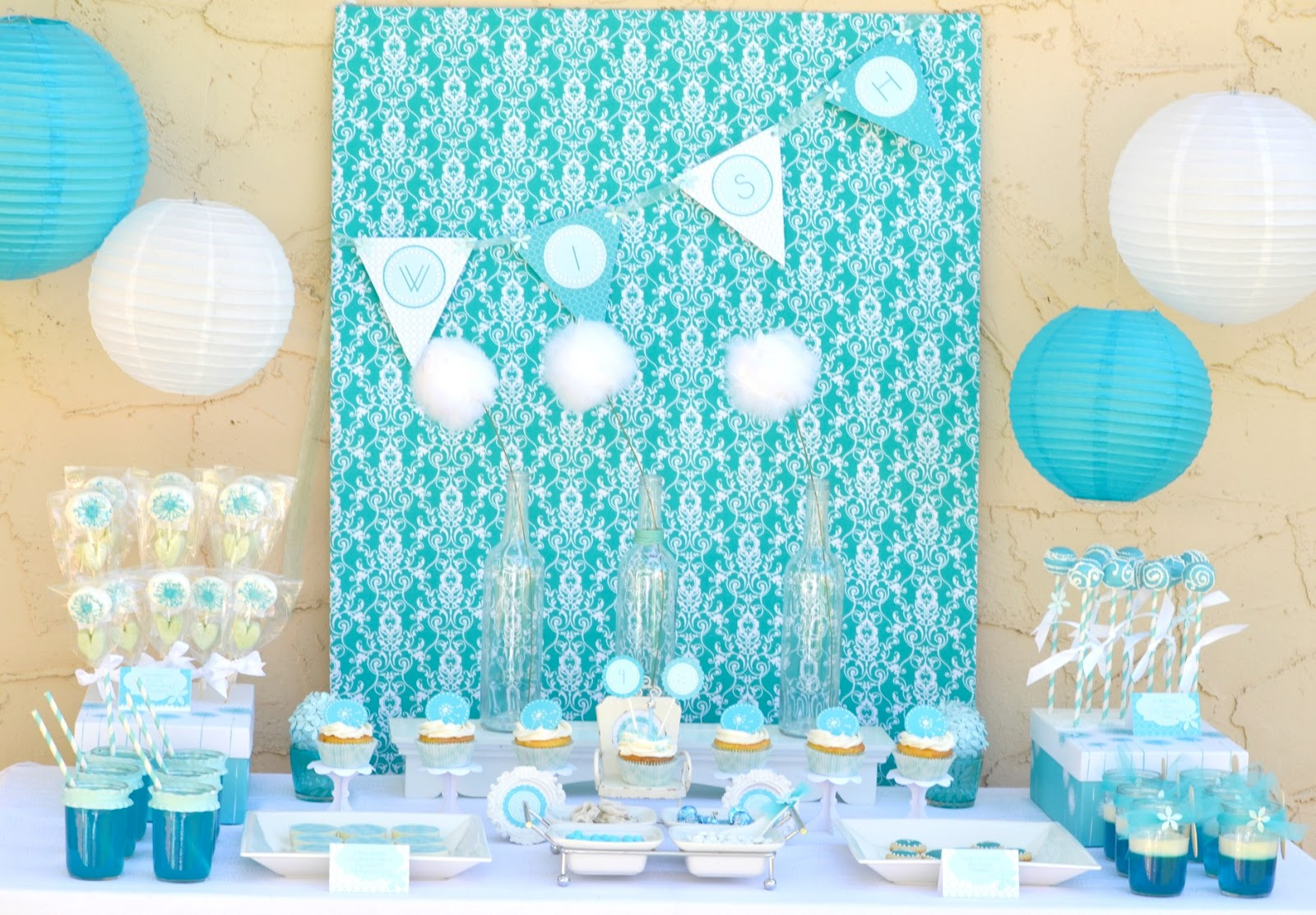 Frozen theme on pinterest frozen theme party frozen for Party backdrop ideas