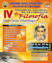 IV CONGRESO NACIONAL DE ESTUDIANTES DE FILOSOFÍA 2011 - UNH.