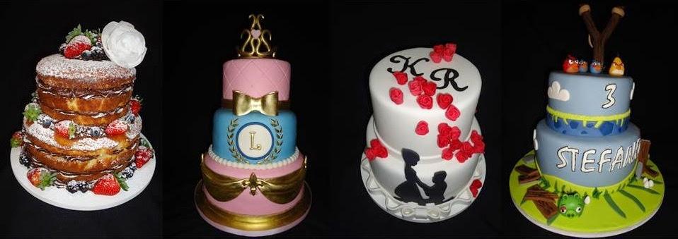 Bolos em Pasta Americana - Designer de bolos - Bolos Decorados - Doces Cupcake Gabriela Lemos Cakes