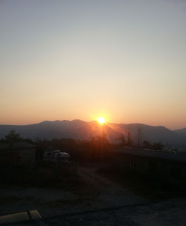 Sun appears