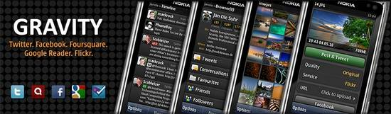 Gravity twitter client for symbian