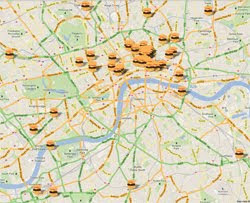 London Burger Map