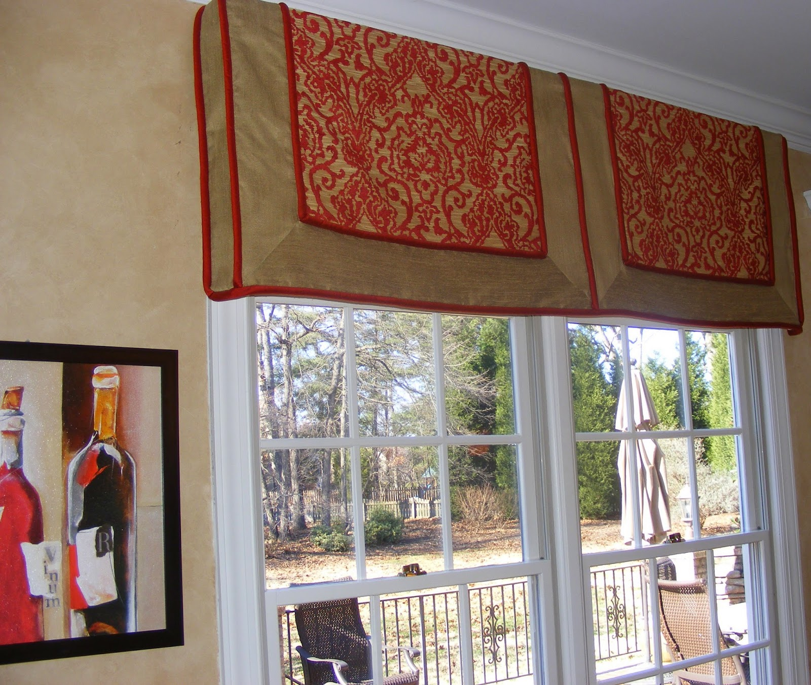They Add Color, Texture, And Eye Appeal To A Room. Window Valances Can Also  Solve Privacy Needs, For Example Functioning Roman Shades.