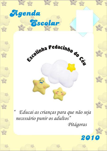 Agenda Escolar Personalizada Pedacinho do Céu 2010 - 2012