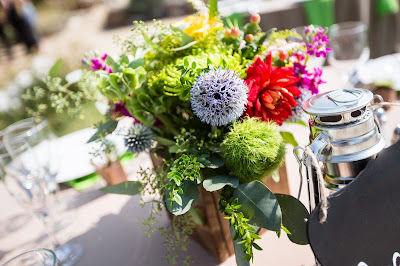 Floral design by Blake's Floral Reno, NV l River School Farm l Jeramie Lu Photography l Take the Cake Event Planning