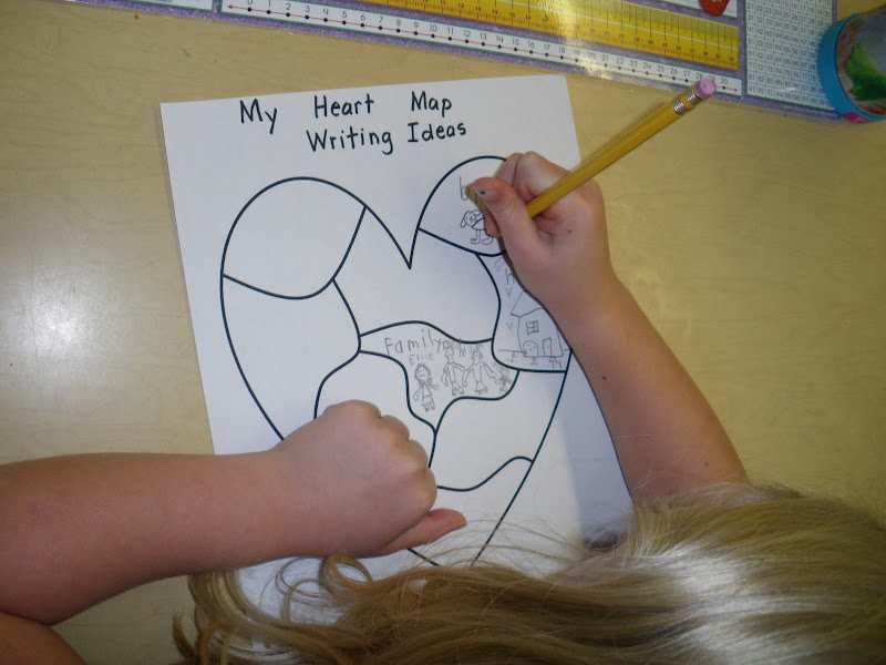 Mrs. McPhail's Grade One Class: Heart Maps - Collecting Story Ideas