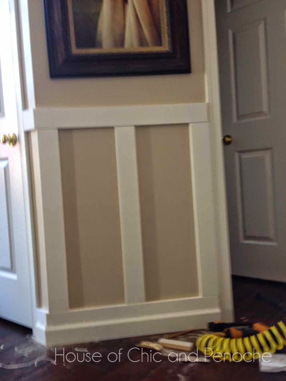 cool house of chic and penoche february with picture frame wainscoting