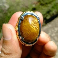 Batu Akik Bulu Macan Kuning