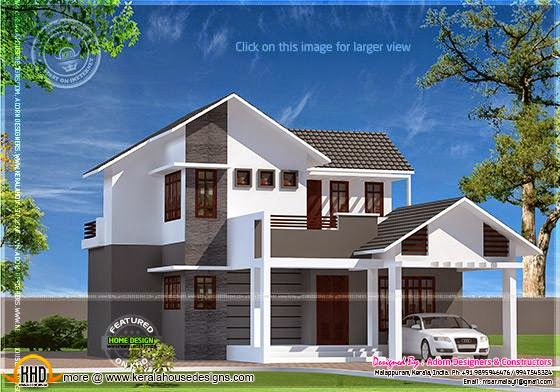 Sloping roof modern