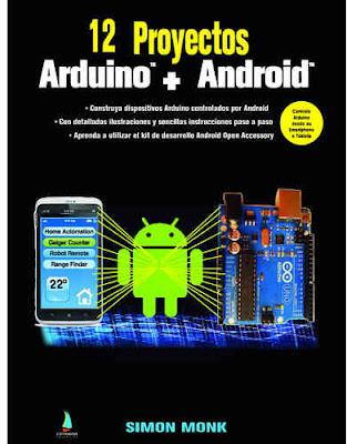 Portada del libro 12 Proyectos Arduino + Android