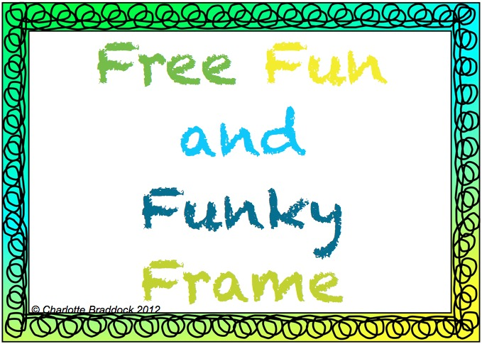 Charlotte\'s Clips and Kindergarten Kids: Fun Funky Frames