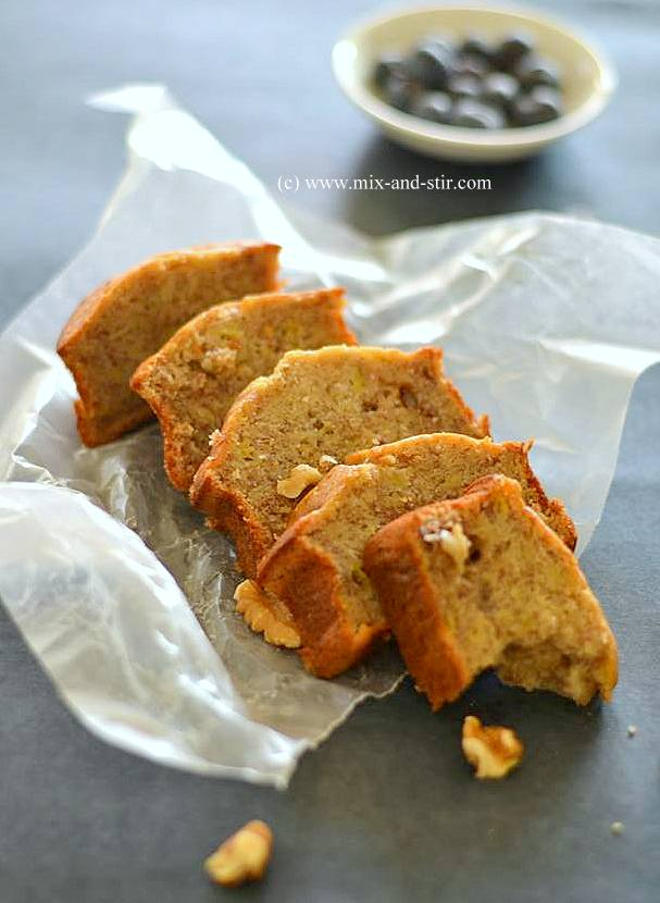 Mix and stir banana walnut bread this particular recipe is inspired from food network the banana bread is moist sweet and delicious cake like bread which is golden brown crust and forumfinder Gallery
