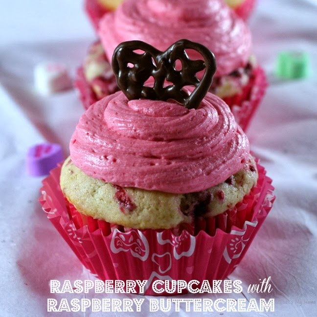 Raspberry Cupcakes with Raspberry Buttercream Frosting