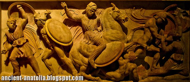 Alexander Sarcophagus: War Scene Detail