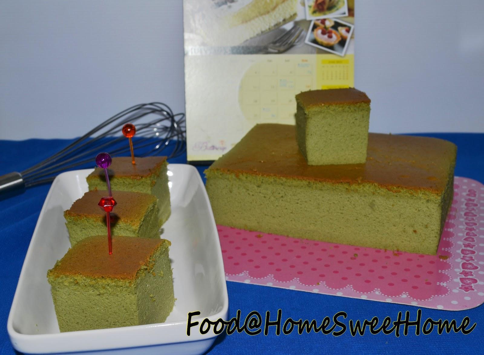 Food@Home Sweet Home: Green Tea Light Cotton Cheese Cake ...