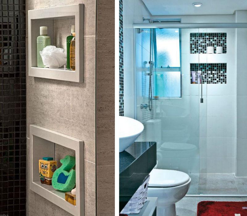 Modatrade  Nichos no banheiro -> Nicho Banheiro Marmoglass