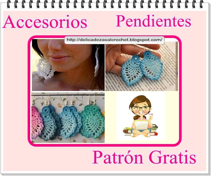 Delicadezas en crochet Gabriela: Accesorios : Pendientes en ganchillo