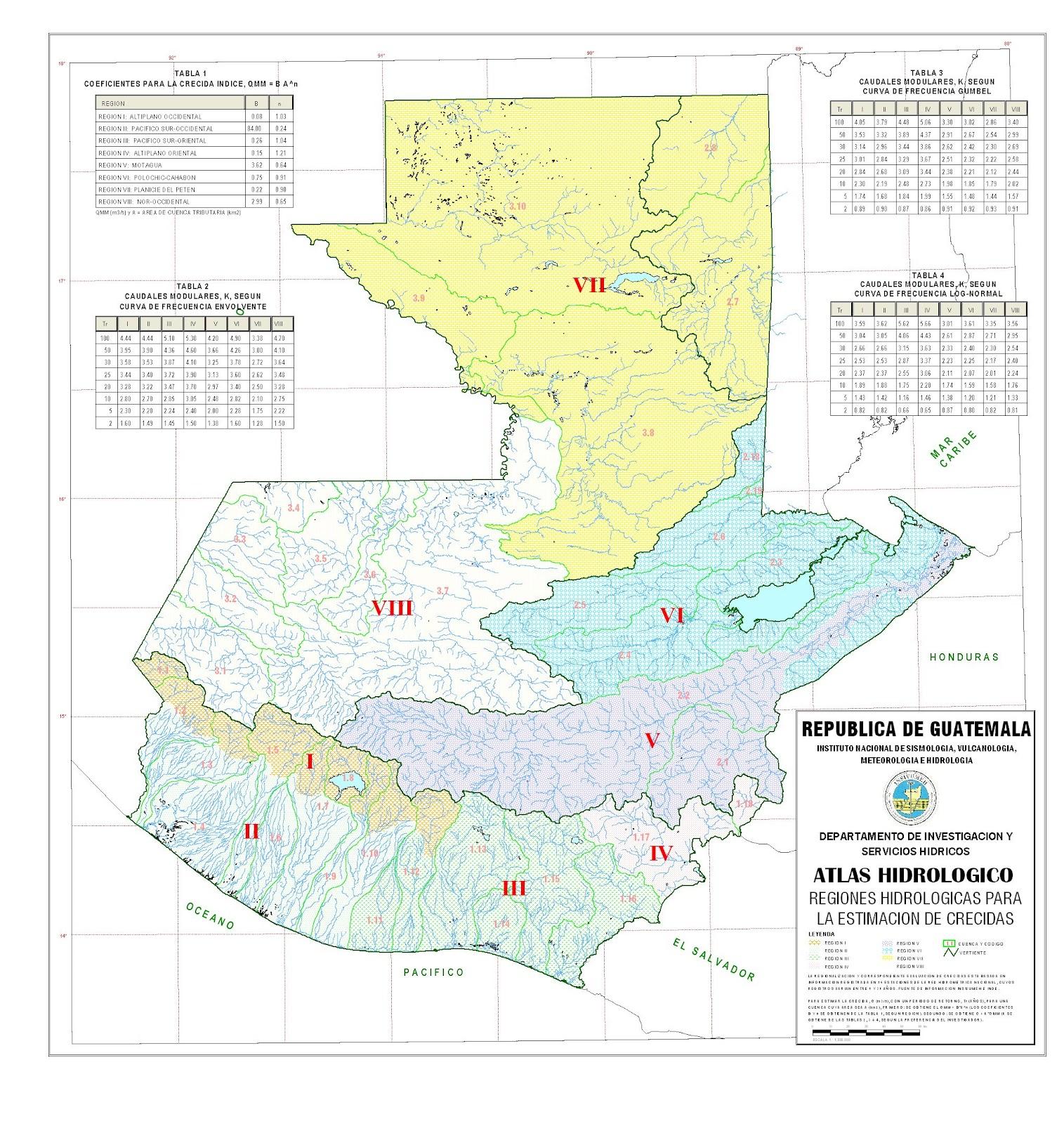 Texto paralelo del Estado de Guatemala: Geografía humana