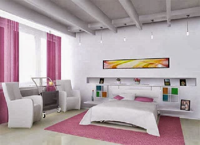 desain kamar pink
