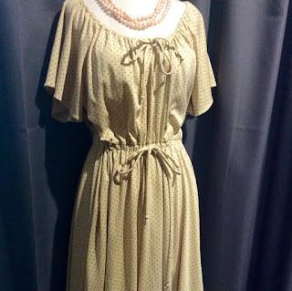 VINTAGE 70s Boho Peasant Style Dress
