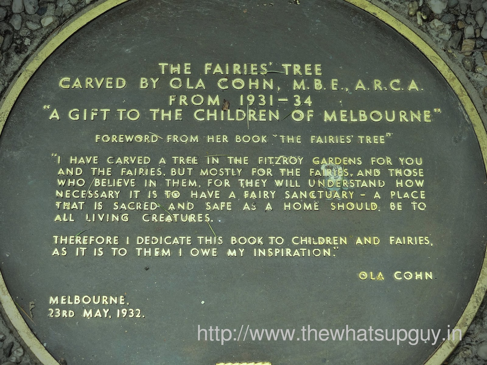 Fritzroy Gardens Fairies Tree Sign